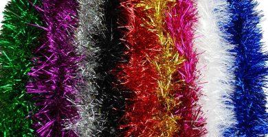 arbol de navidad con espumillon