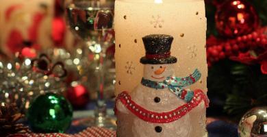 velas de navidad en foami