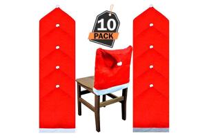 sillas y adornos de mesa navideños 2019