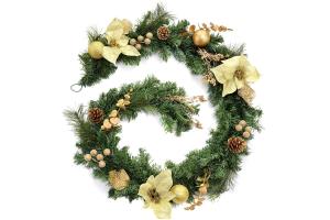 guirnalda para bola grande navidad