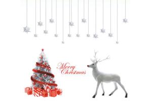 reno con luces navidad