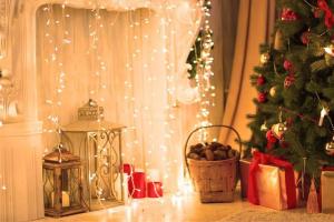 guirnalda verde navidad