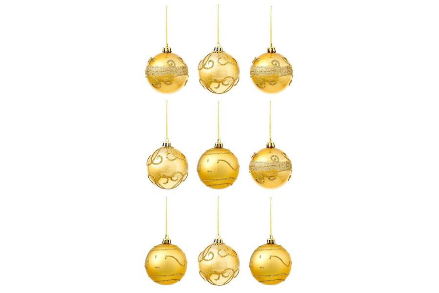 bola dorada de navidad png