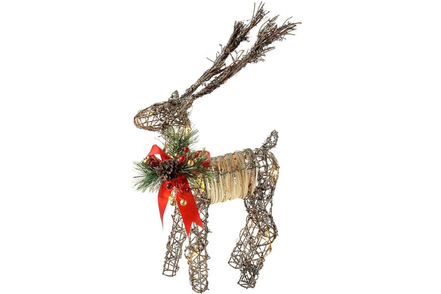 dibujos de renos de navidad