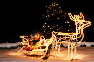 ciervo luminoso navidad
