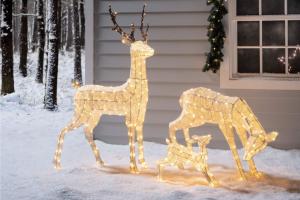 ciervos de luces navidad