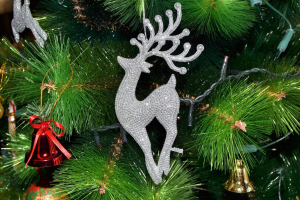decoracion navideña oficina