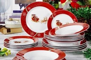 vajilla navidad porcelana
