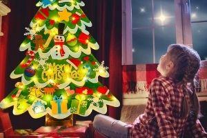 adornos arbol navidad fieltro