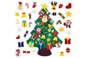 arbol fieltro navidad