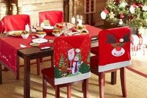 cubre sillas navidad