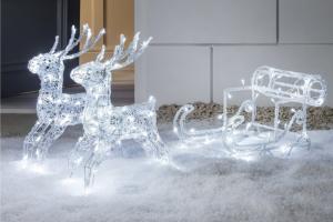 estructura de reno navideño
