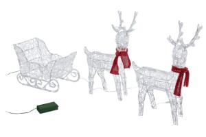 adornos navideños renos iluminados