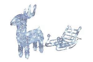 renos de navidad luces