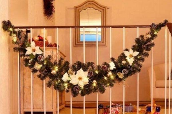 decorar escaleras navidad