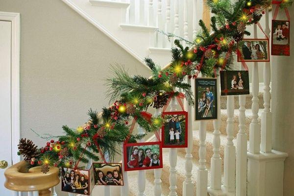 decoracion escaleras navidad
